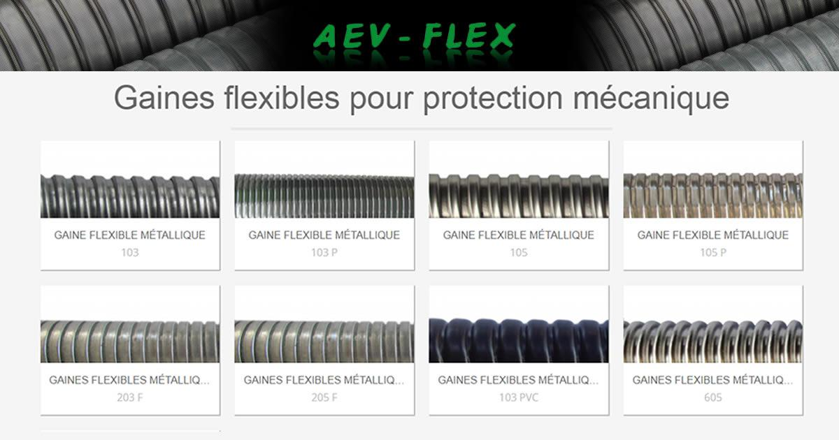 aev flex gaines flexibles pour protection mecanique
