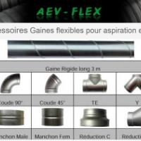 Vente d'accessoires tuyauterie et gaines flexibles (aspiration, échappement, ventilation industrielle)